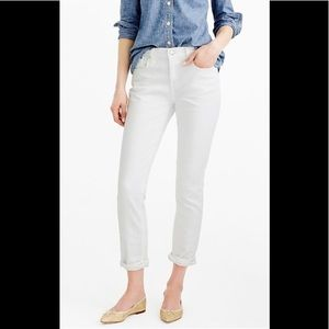 J Crew broken in boyfriend jeans white size 32